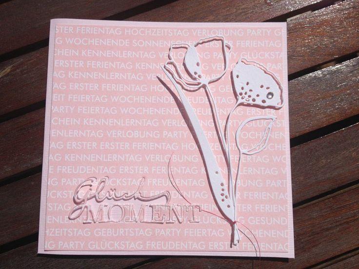 Geburtstagskarte.... für viele Glücksmomente im neuen Lebensjahr....