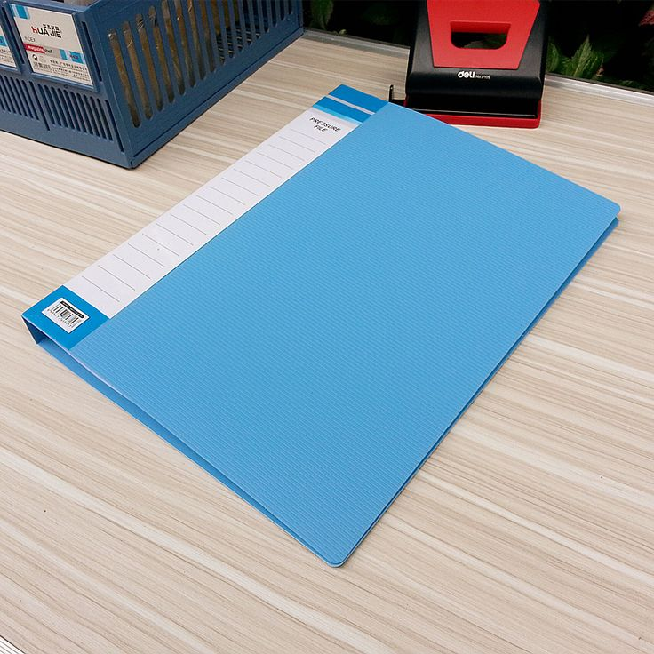 Plastic folder two holes Desktop storage lever arch file office & school stationery
