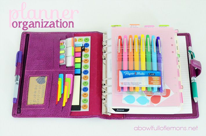 Make your planner work for YOU! All sorts of great resources and ideas on how to organize your planner and supplies from A Bowl Full of Lemons