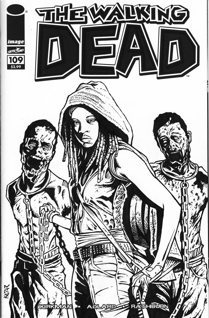 The coloring book of the dead - The Walking Dead Is An Ongoing Black And White American Comic Book Series Written