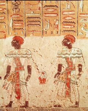 Nubian gods from the Tomb of Ramesses III (c.1184-1153 BC) New Kingdom