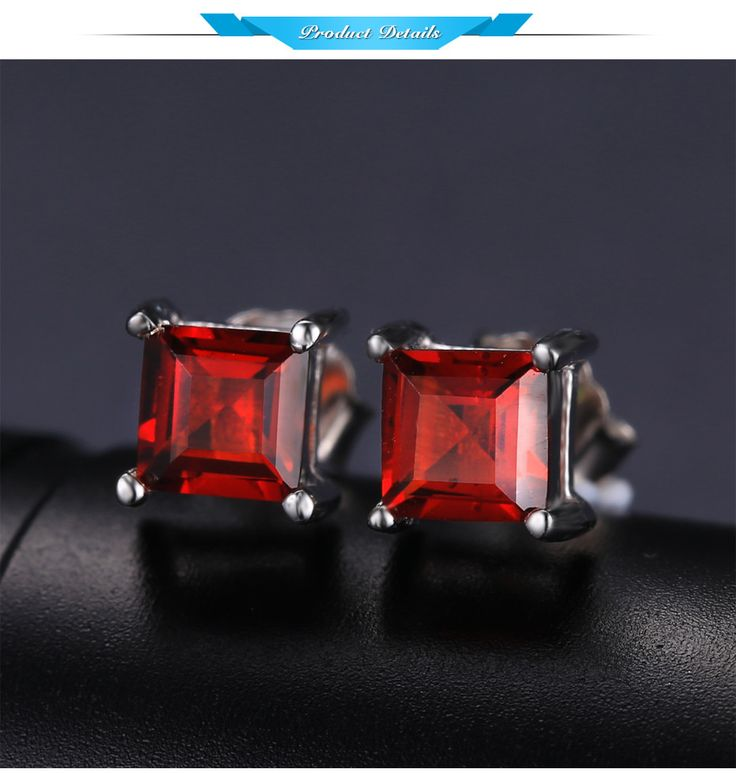 JewelryPalace Square 0.9ct Natural Garnet 925 Sterling Silver Stud Earrings Plata 925 Vintage Brand Bijoux cc crystal earrings //Price: $17.99 & FREE Shipping //     #accessories #necklaces #pendants #earrings #rings #bracelets    FREE Shipping Worldwide     Get it here ---> https://www.myladyempire.com/jewelrypalace-square-0-9ct-natural-garnet-925-sterling-silver-stud-earrings-plata-925-vintage-brand-bijoux-cc-crystal-earrings/