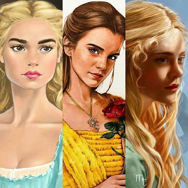 Cinderella, Belle, Aurora