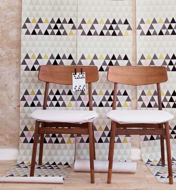 Lilesadi Behang Soft Triangles