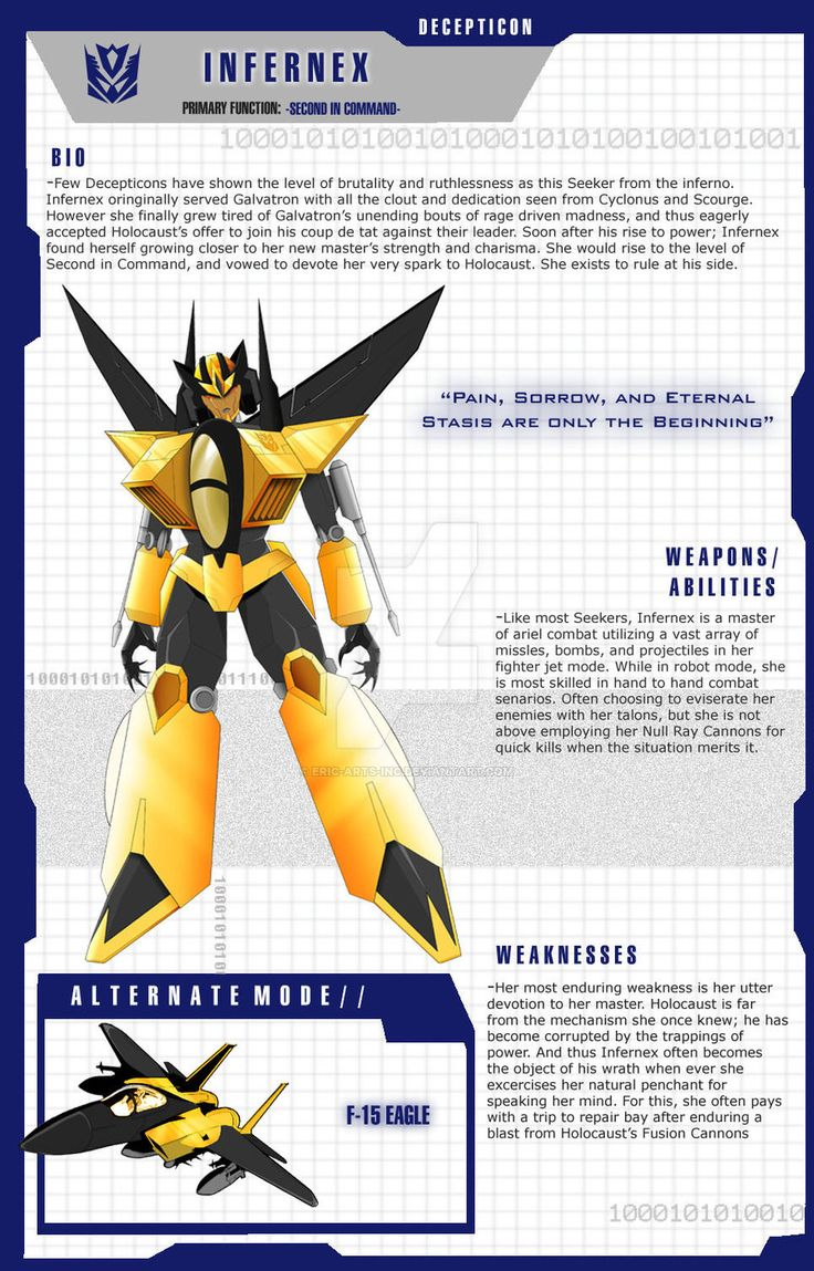 Transformer OC: INFERNEX Character Sheet by ERIC-ARTS-inc on DeviantArt