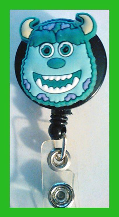 Pediatric Nurse Monsters Inc ID Badge Retractable Nurse Lanyard Clip Despicable Me by thetreasuregarden on Etsy