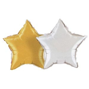 "Star Shaped 20"" Mylar Balloons"