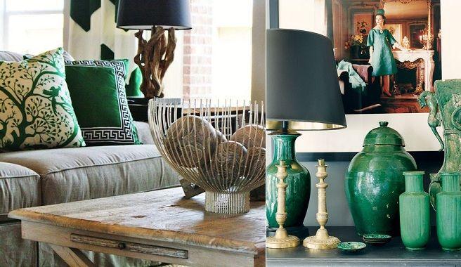 Verde esmeralda, el color de moda para decorar