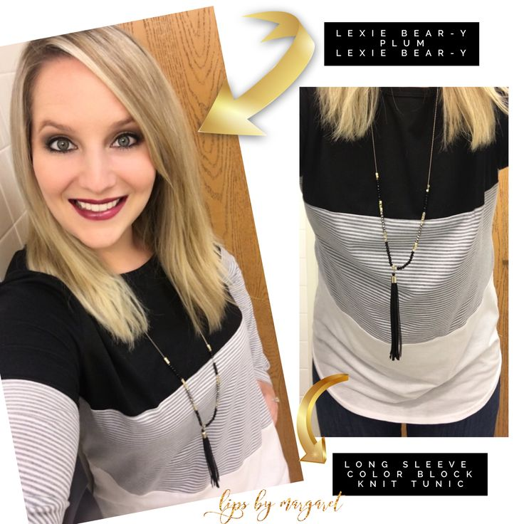 Lexie Beary Plum Lexie Beary LipSense / Amazon Knit Color Block Tunic / Target Necklace Distributor #262866