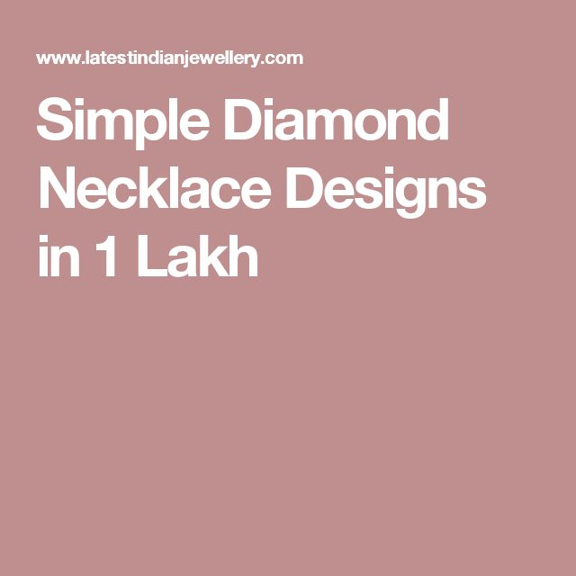 Simple Diamond Necklace Designs in 1 Lakh