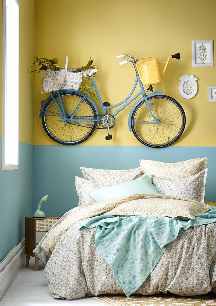 17 meilleures id es propos de chambres bleu ciel sur pinterest t te de lit sarcelle murs de - Ciel de lit bleu ...