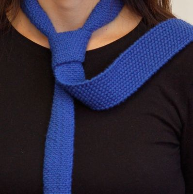 Knit tie - this looks like a better pattern than the one I used last time