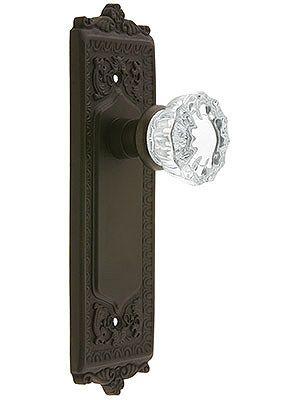Decorative Dummy Door Knobs. Egg U0026 Dart Style Door Set With Fluted Crystal  Glass Door
