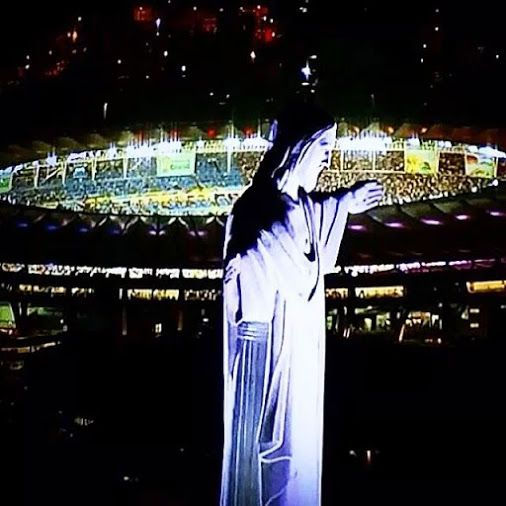 Christ the Redeemer with Maracana background