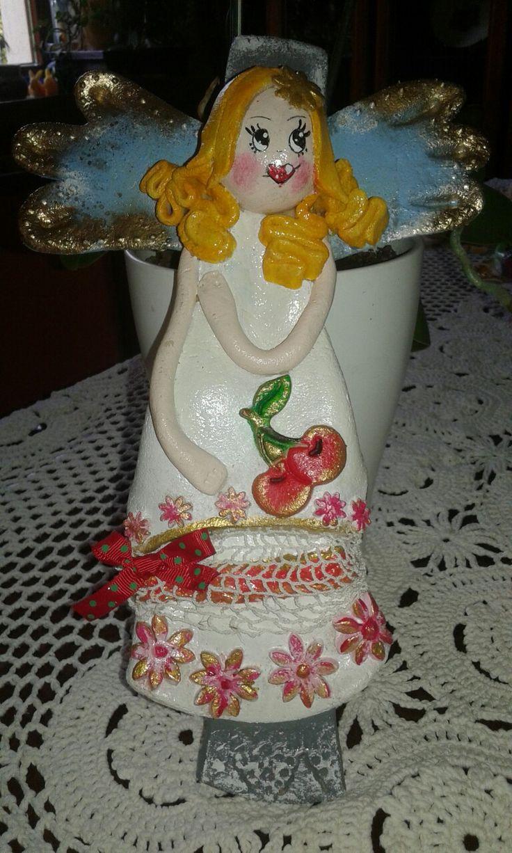 Anielinka z masy solnej. Aniołowy Kuferek www.facebook.com/aniolowykuferek