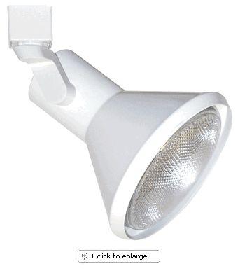 """Line Voltage PAR38 Solid PAR Classic    Use with single or two circuit track & accessories  Lamp: 150W PAR38    Dimension: L X W:6 1/4: x 5 7/8"""" Regular price: $35.50  Sale price: $20.50"""