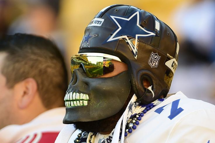 Cowboys vs. Steelers  - 35-30, Cowboys  -  November 13, 2016:      Cowboys Steelers Football  -   A Dallas Cowboys fan watches warm ups before an NFL football game against the Pittsburgh Steelers in Pittsburgh, Sunday, Nov. 13, 2016. (AP Photo/Fred Vuich)