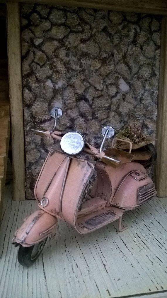 Miniature Dollhouse Miniature Vespa VESPA MOTORCYCLE-motorcycle