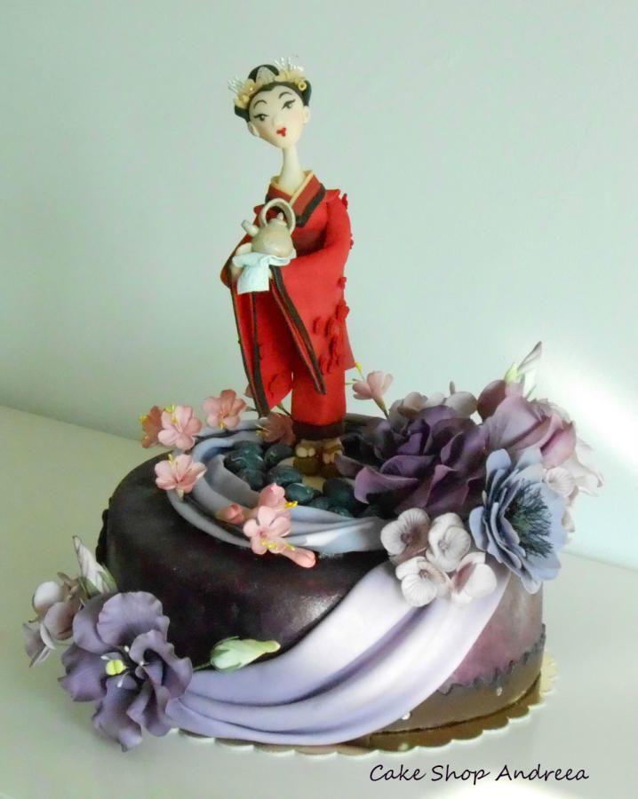 geisha cake - Cake by lizzy puscasu