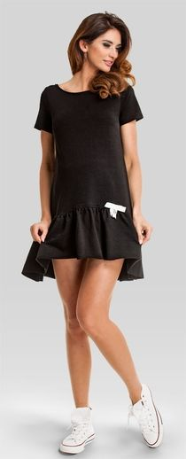 Lollipop black modern maternity tunic