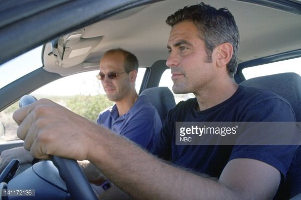 Anthony Edwards as Doctor Mark Greene, George Clooney as Doctor Doug Ross