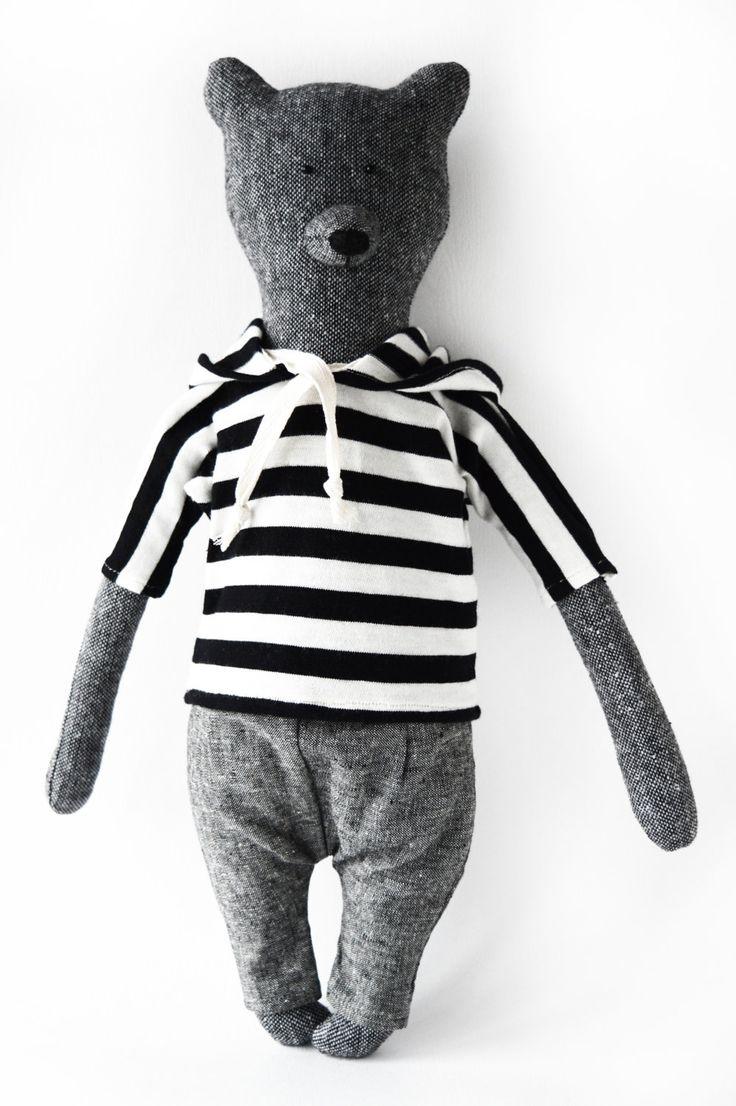 Larry The Bear. Primitive teddy Bear. Child friendly toys. Soft Bear - Best Friend for kids (53.00 USD) by PhilomenaKloss