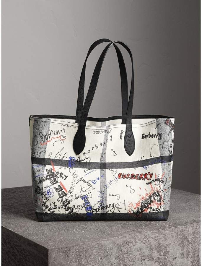 8f24138a4c94 Burberry The Medium Reversible Doodle Tote