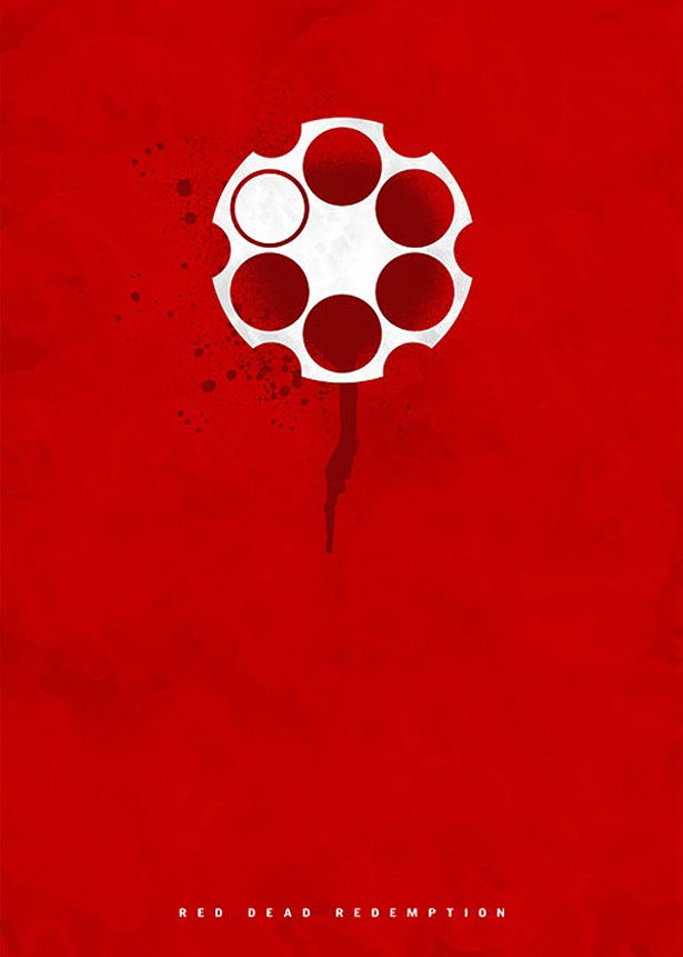 Foyer Minimalist Game : Minimalist posters red dead redemption game