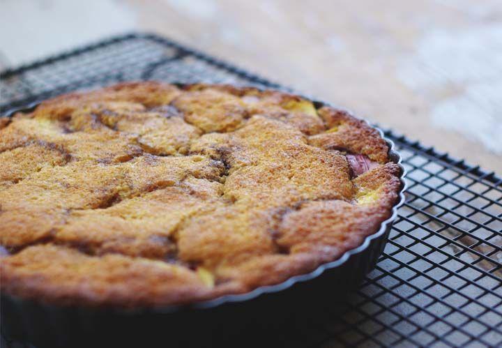So Good and Tasty: Nectarine Honey Cake (healthy)