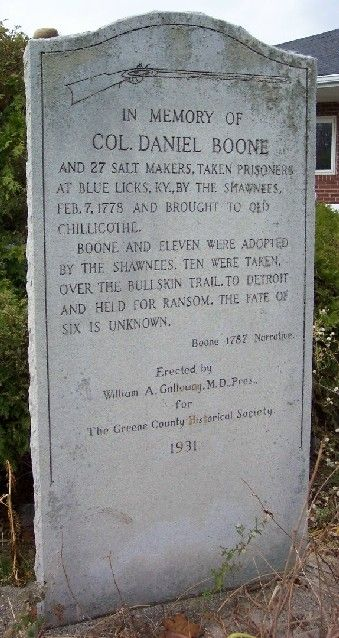 Col. Daniel Boone Marker.... Actually great great great. ...... grandfather to my kids.