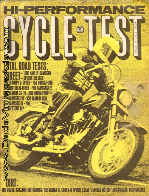 1972 Hi-Performance Cycle Test – Motorcycle Road Test Annual