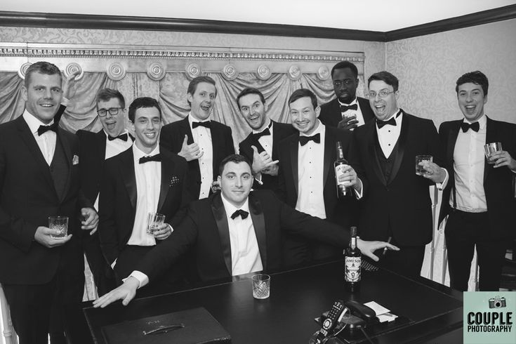 The boys enjoy a glass of whiskey in the Presidential Suite before the wedding ceremony. http://www.couple.ie