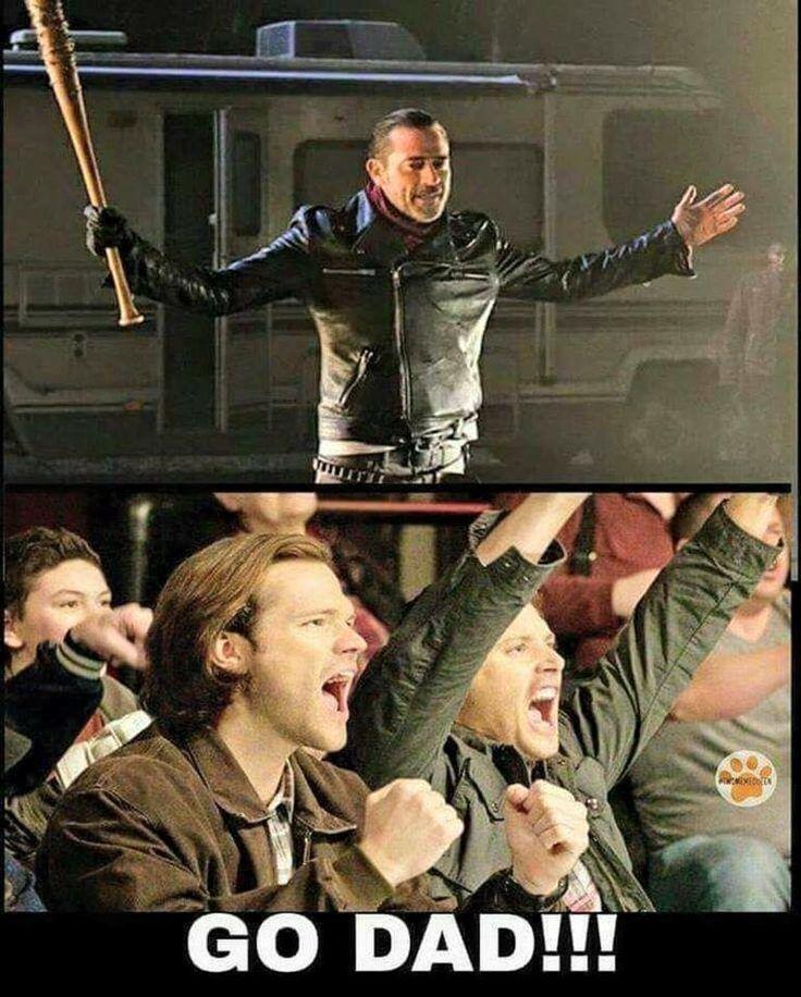 John Winchester as Neegan on TWD