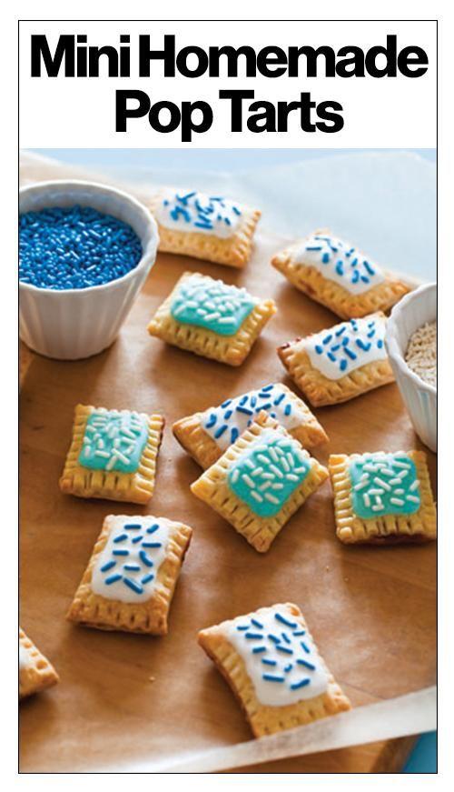 A new treat: mini homemade Pop Tarts. Click to see the recipe.
