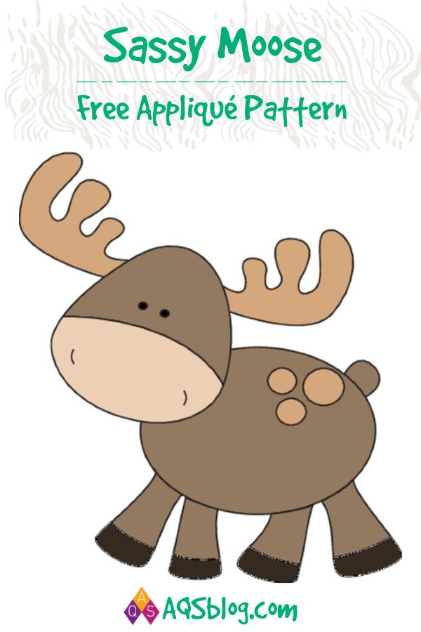 FREE PATTERN: Sassy Moose | Free Quilt Patterns from