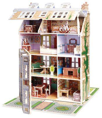Slot Together Doll's House (3D model)
