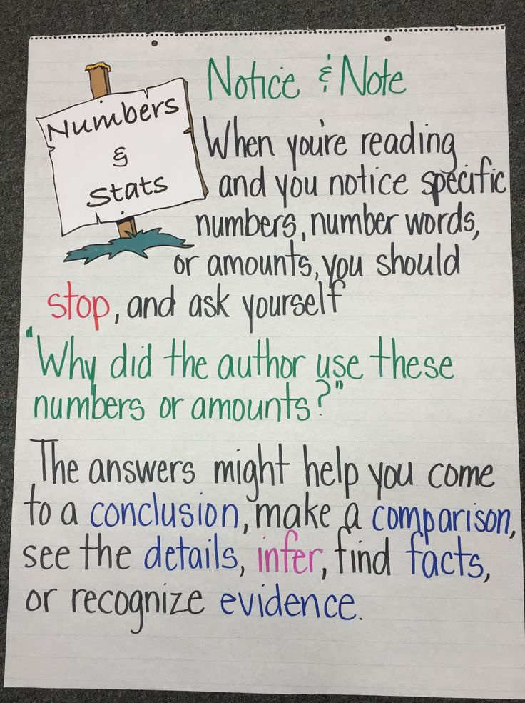 Numbers & Stats: Notice & Note for Nonfiction