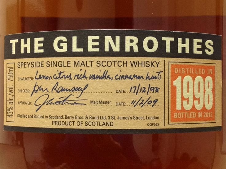 Glenrothes 1998/2012 43%