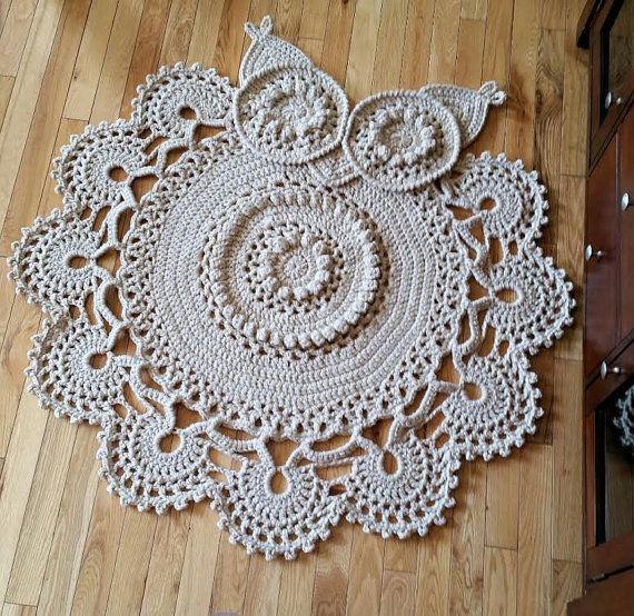 Crochet Owl Rug Pattern: Made By Susan (jojoroseanne) From An IraRott Pattern