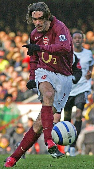 Different kind of claret: Robert Pires will swap his Arsenal vintage for that of Villa