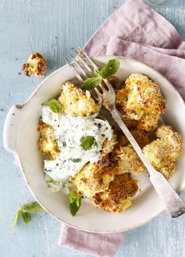 Tee kanansiipien sijaan kukkakaaliwingsit. Ihanan rapeat suupalat katoavat lautaselta hetkessä!