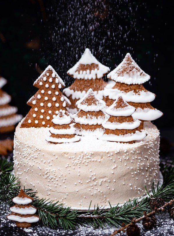 Piernikowy Tort Z Czekolada I Pomarancza Przepis Christmas Cake Gingerbread Cake Bowl Cake
