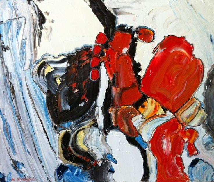 """Saatchi Online Artist: Mary Karathanassis; Oil 2013 Painting """"Marble sensation III"""""""