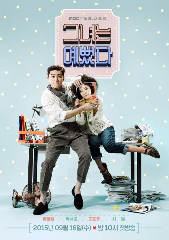 SHE WAS PRETTY: Kim Hye Jin (Hwang Jung Eum) era una chica muy bonita. Después de que la familia de Ji Sung Joon (Park Seo Joon) se fuera al extranjero, su familia cayó en desgracia, haciendo que ella descuidara apariencia. Ji Sung Joon era un chico poco atractivo y autoestima baja, se enamora de Hye Jin, pero debe irse del país. Al crecer, Sung Joon se vuelve más atractivo y se convierte en editor jefe de una revista de modas.¿Podrá la apariencia cambiar los sentimiento de una persona?.