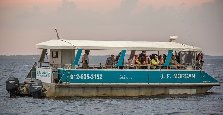 Jekyll Island Dolphin Tours offers fully narrated 90-minute dolphin/sightseeing tours from the Jekyll Wharf, allowing passengers to learn about and observe bottlenose dolphins as they feed, play, or cruise about in their natural habitat.