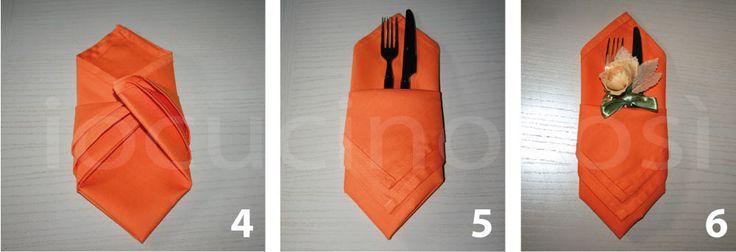 Come piegare i tovaglioli – Piega a tasca | Decorare la tavola