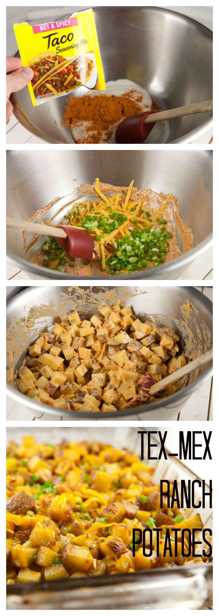 Tex-Mex Ranch Potatoes just add chicken use radishes or cauliflower instead.