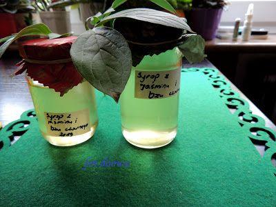 Moje Małe Czarowanie: Syrop z kwiatów jaśminu i bzu czarnego