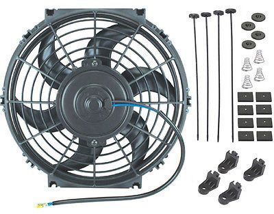 "10"" Inch Electric Fan Auto Radiator Cooling Mopar Nismo High Performance Racing"
