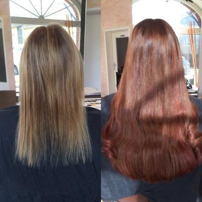 Meine Greatlengths Haarverlängerung von Blond auf Rot-Braun - mit Vorher-Nachher-Bildern http://www.combeauty.com/meine-greatlengths-haarverlaengerung-von-blond-auf-rot-braun-mit-vorher-nachher-bildern.html